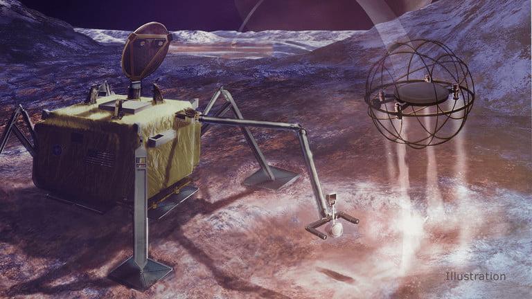 ناسا برای کشف جهان های یخی، یک ربات پرتاب کننده بخار میسازد