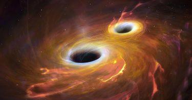 برخورد سیاهچاله ها به هم و انفجار آنها با شعله های آتش مهیب