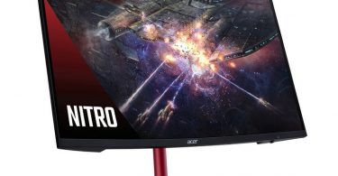 مانیتور منحنی جدید ایسر Nitro XZ2 مخصوص بازی و مقرون به صرفه