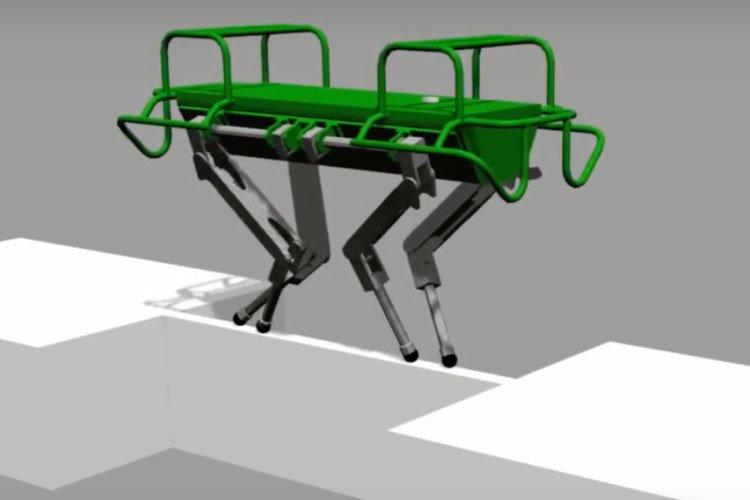 ربات چهار پای بند باز توسط تیم رباتیک ایتالیایی
