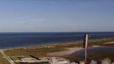Starship-SpaceX نمونه اولیه موشک خود به نام استار شیپ را150متر از سکو پرتاب کرد