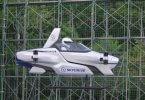 ماشین پرنده ژاپن با یک نفر سرنشین پس از پرواز با موفقیت فرود آمد