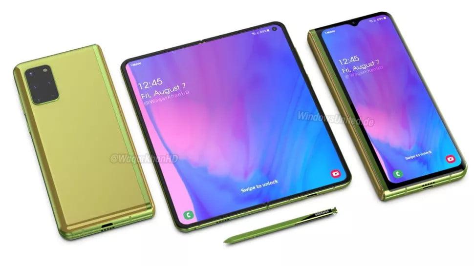 تصویر از تلفن تاشو Galaxy Z Fold 2 سامسونگ با صفحه نمایش لبه به لبه