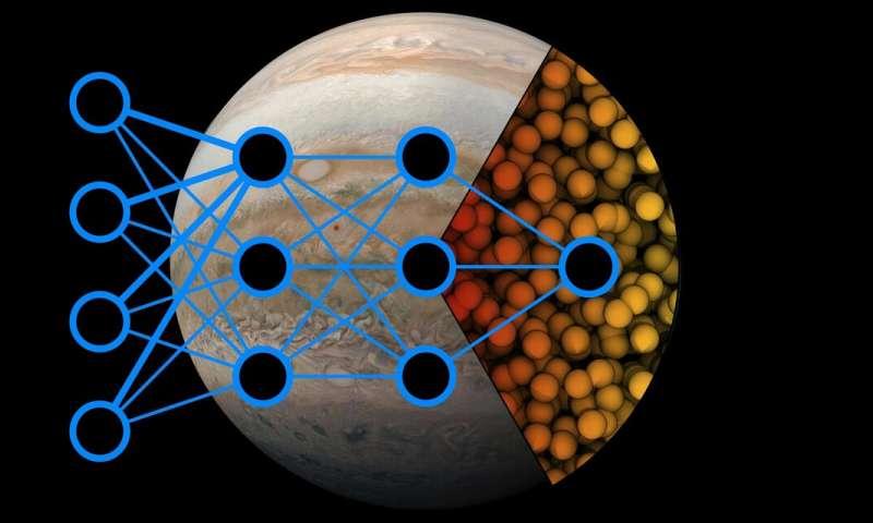 تصویر از هوش مصنوعی برای پاسخ به چگونگی تبدیل شدن هیدروژن به فلز در سیارات غول پیکر