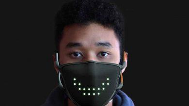 JabberMask ماسک صورت LED که صحبت و خنده های شما را نمایش می دهد
