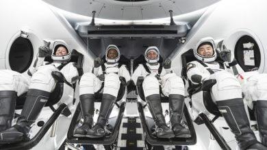 تصویر از پرواز دوم Crew Dragon فضاپیمای ناسا و اسپیس ایکس به ایستگاه فضایی بین المللی