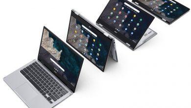 رونمایی ایسر از Chromebook Spin 513 و اسپیکر هوشمند Acer Halo