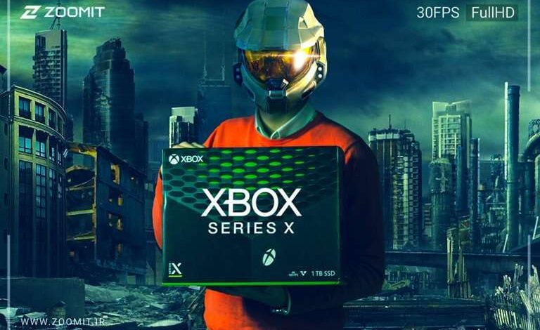 جعبه گشایی ایکس باکس سری ایکس مایکروسافت